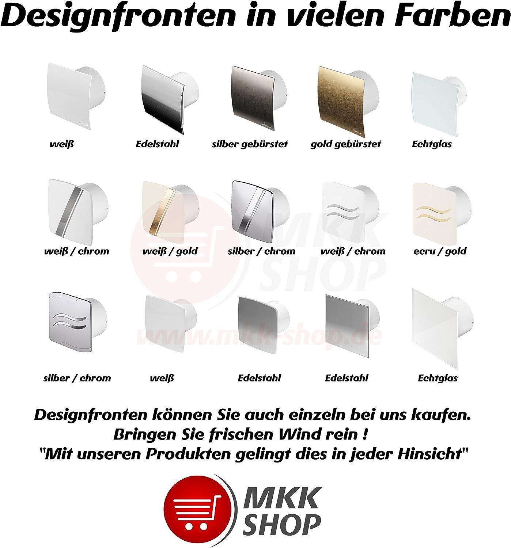 /Ø 150/mm ventilateur salle de bain Design Blanc brillant avec interrupteur et anti-retour web150/W Ventilateur Ventilateur avant Ventilateur mural silencieux Cuisine Bain Ventilateur Ventilateur Ventilateur encastrable 15/cm