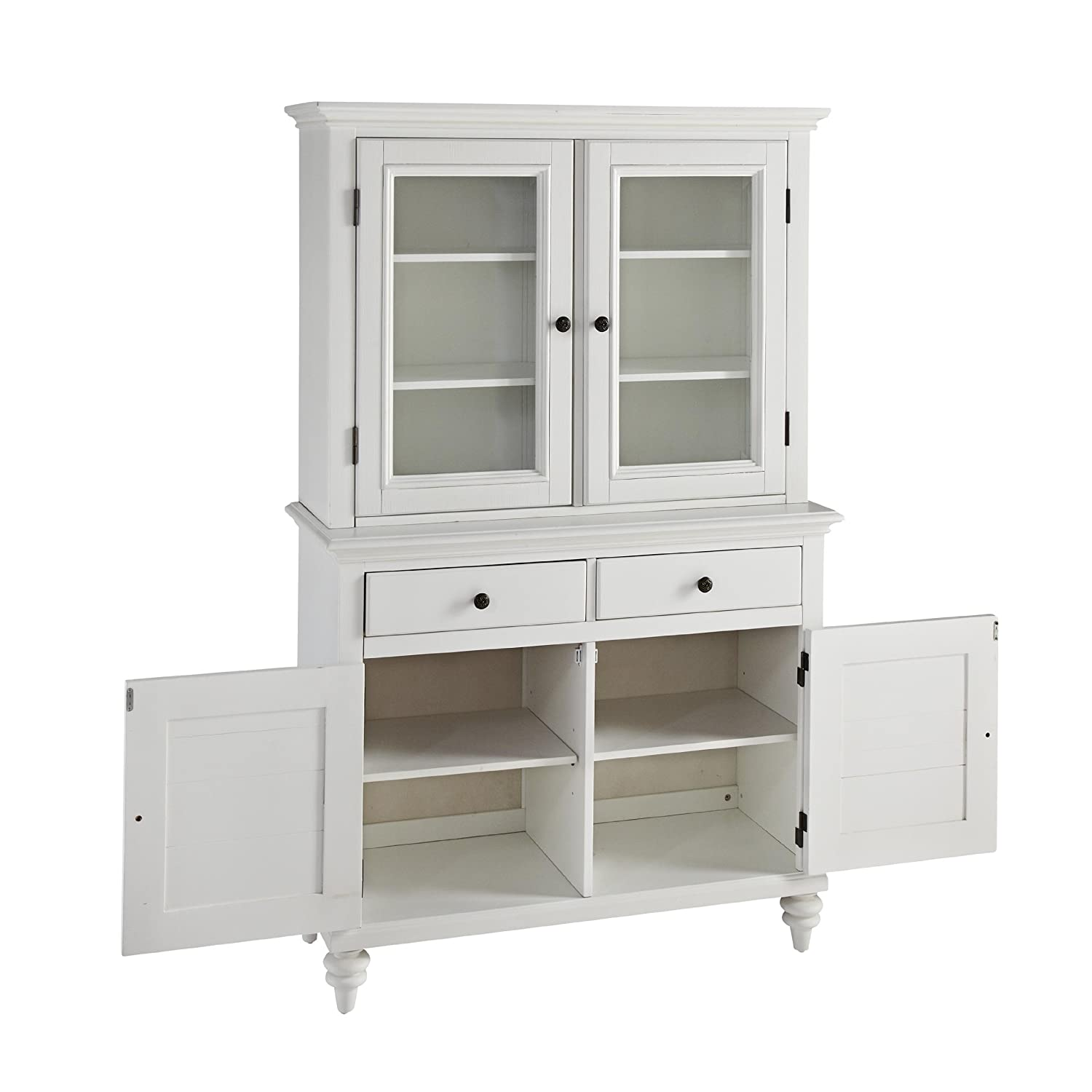 Amazon.com   Home Styles 5543 617 Bermuda Buffet And Hutch, Brushed White    Buffets U0026 Sideboards