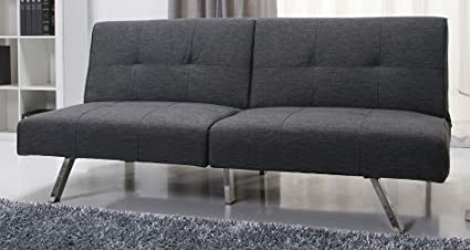 Gold Sparrow Victorville Foldable Futon Sofa Bed, Gray