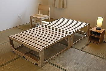 Amazon|折りたたみベッド 桐らくね 高さ35センチタイプ|折りたたみ