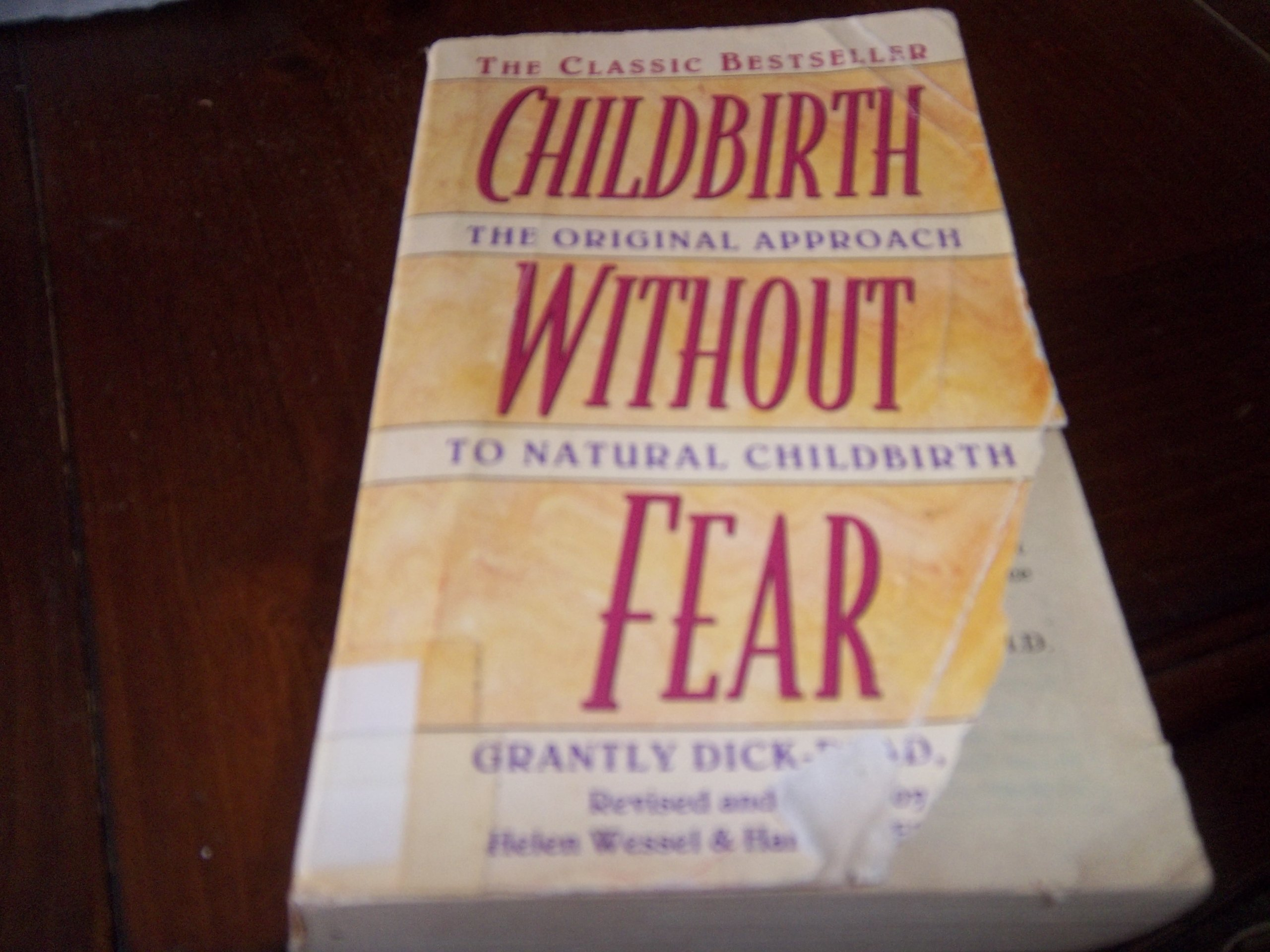 Learning to breathe according to the book of Grantley Dick-Read. Childbirth without fear
