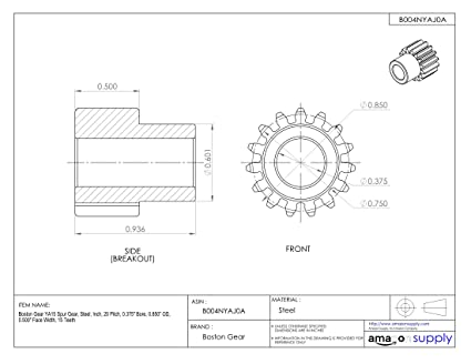 0.875 Inch Hub Projection 1-7//8 Inch total width 1 Face Width 4.334 Inch OD, 20 Deg 12DP Ametric/® 20S1250 Inch Steel Spur MPB Gear B 50 Teeth 3-1//2 Inch Hub Dia 7//8 Inch +//-1//16 Pilot Bore H 1-125 F P