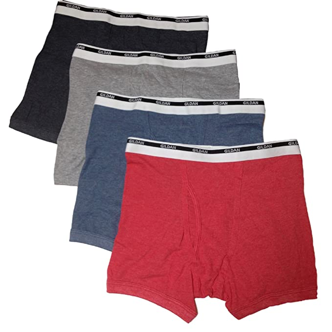 79823ec95fc6 Image Unavailable. Image not available for. Color: Gildan 4-Pack Men's  Premium Cotton Boxer Briefs ...