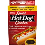 Rapid Hot Dog Cooker - Microwave Hot Dogs in 2 Minutes or Less - BPA Free and Dishwasher Safe