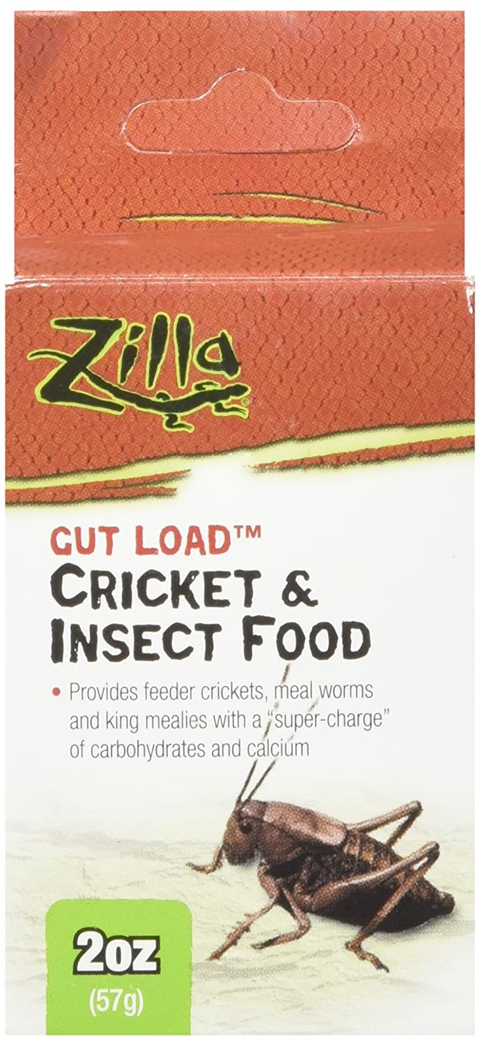 Zilla 11890 Gut Load Cricket and Insect Food, 2-Ounce Bottle 100111890