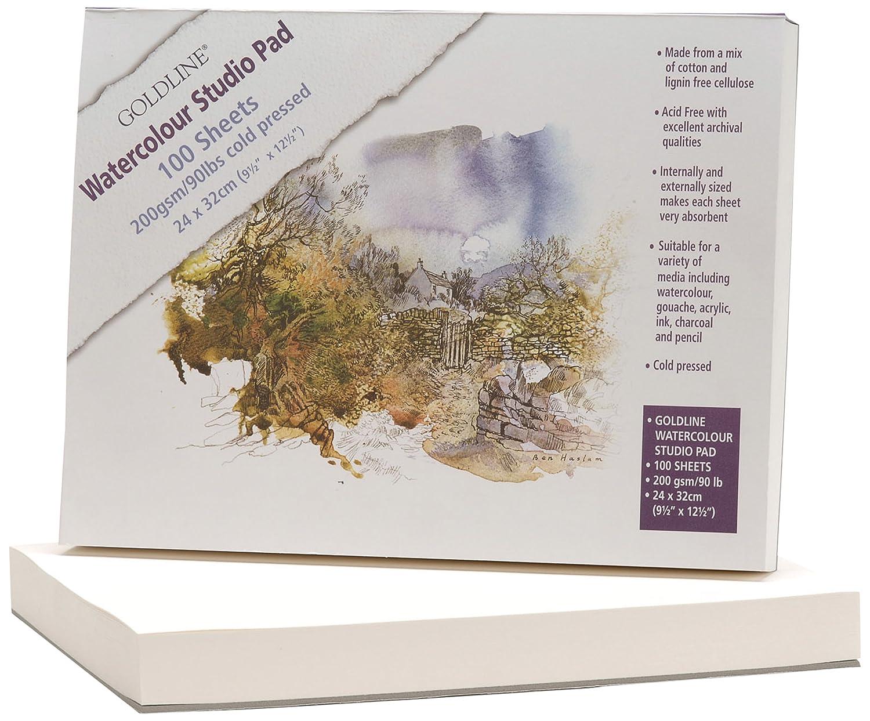 Clairefontaine Goldline 24 x 32 cm Watercolour Studio Glued Pad 200 g 100...