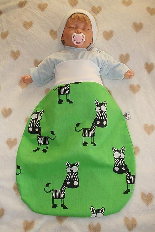 Saco de dormir con diseño de animales, cebra/verde Talla:0-6