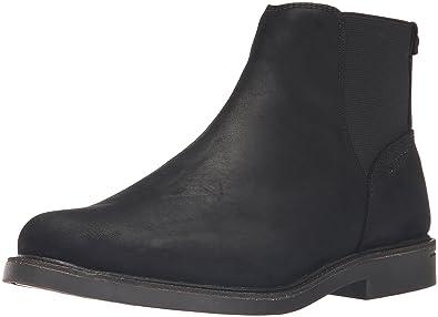 Sebago Men's Turner Chelsea Waterproof Ankle Bootie, Black Leather, ...