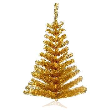 Tannenbaum Preise.30 Cm 30 Spitzen Künstlicher Weihnachtsbaum Tannenbaum Christbaum In Gold Inkl Kunststofffuß Christbaumständer