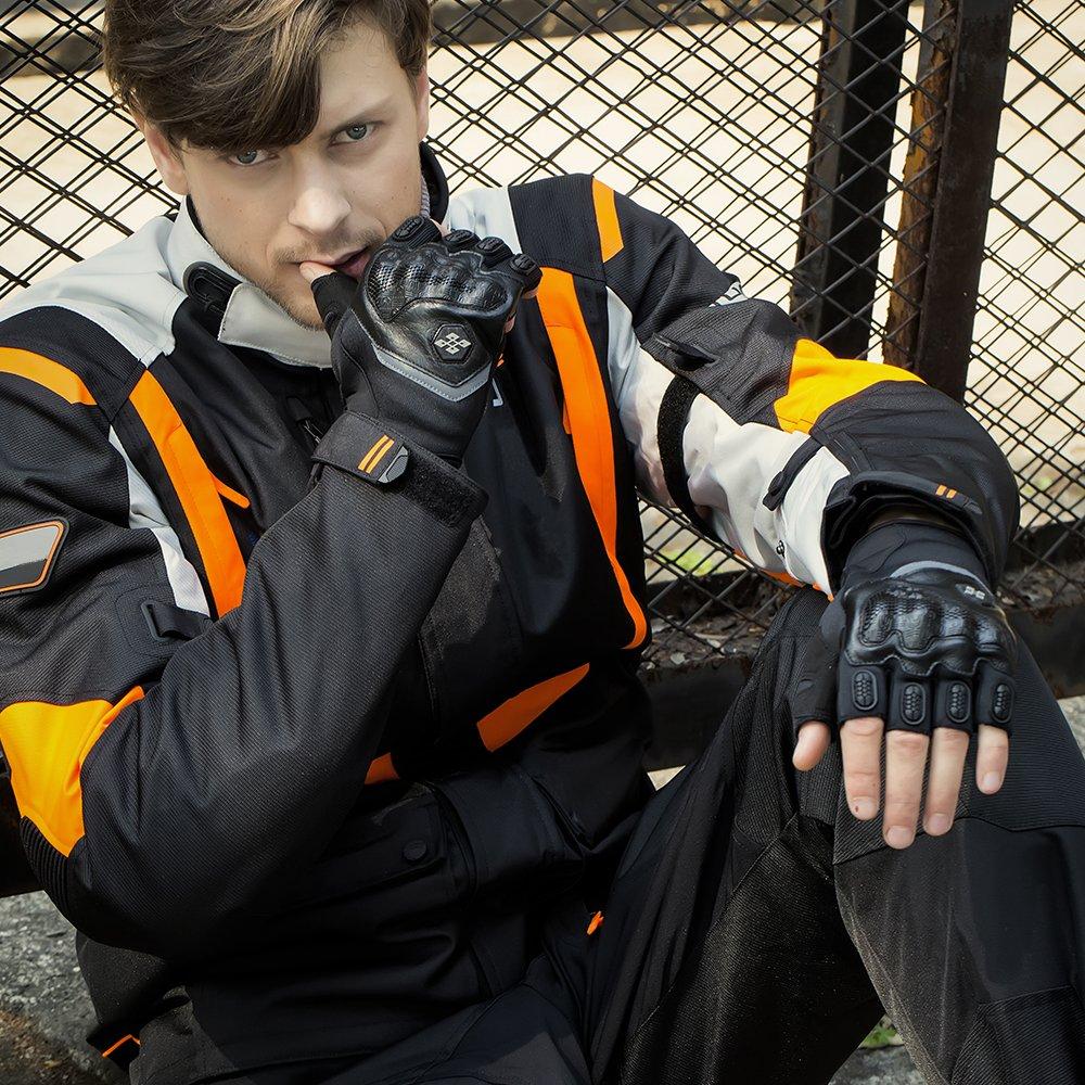 L, Green ILM Motorcycle Gloves Touchscreen Fits For Dirt Bike ATV Summer Men Women