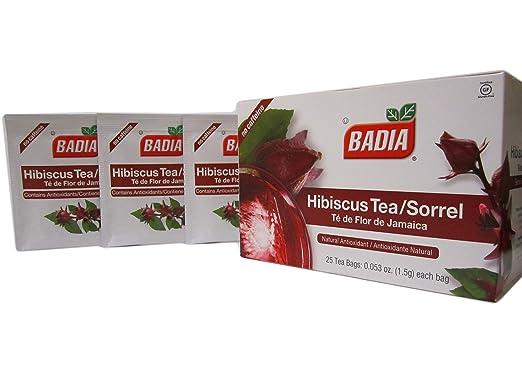 100 Bags-Hibiscus Tea Sorrel Antioxidant Diuteric/Te de Flor Jamaica Antioxidante