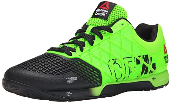 Reebok Men's R Crossfit Nano 4.0 Solar Training Shoe, Green/Black, 8 M US