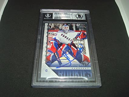 Henrik Lundqvist Signed 05 06 Young Guns Rc 216 Beckett Bas Coa 1a