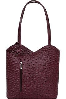 0009fc85901c7 2in1 Backpack Belli Handtasche Rucksack ItalLedertasche SLGzpqUMV