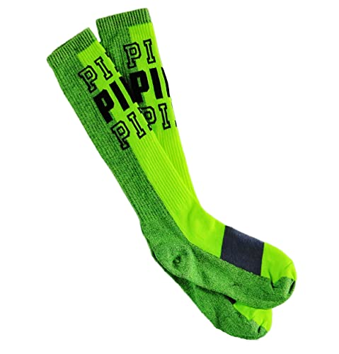 3bdbd72165f Image Unavailable. Image not available for. Color  Victoria Secret Pink Knee  High Socks Neon Green Marl