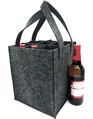 1e85f4e8fa20 iZoeL Wine Bottle Bags Can Beer Drink Carrier Tote Carry Case Holder  Reusable Washable with Removable