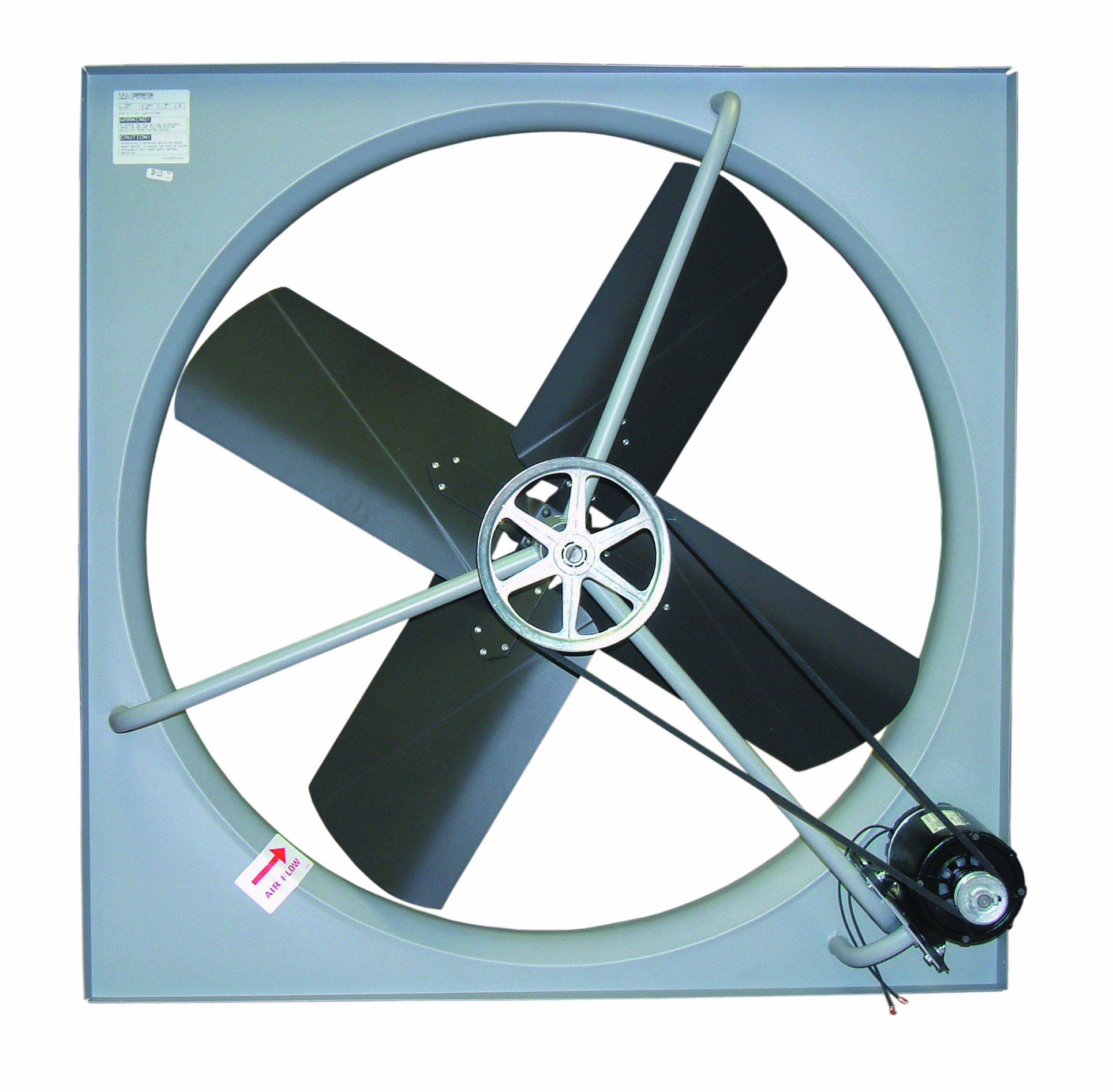 TPI Corporation CE-24-B Commercial Exhaust Fan – Single Phase 24'' Diameter, 120 Volt Industrial Fan for Ventilating Interiors. Bathroom Vent Fan by TPI