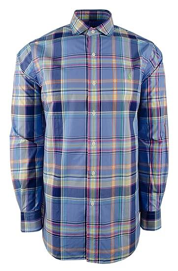 9e222439b882 Polo Ralph Lauren Men s Long Sleeve Plaid Estate Twill Classic Fit Shirt-BW-S  at Amazon Men s Clothing store