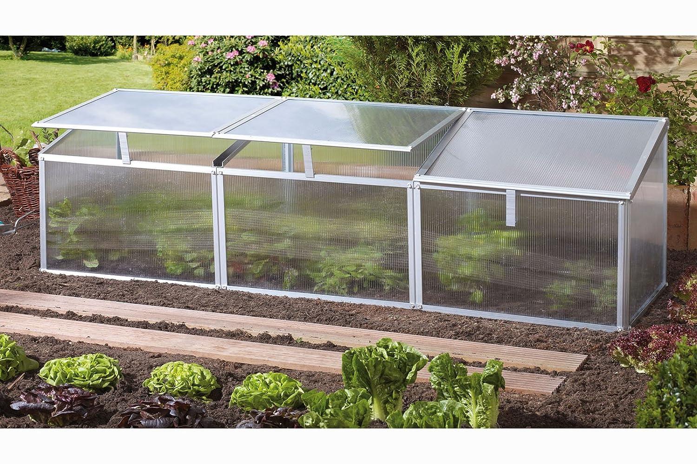 Pergart Frühbeet Gaia 3x, 180 x 50 cm, 3 Dachfenster: Amazon.de: Garten