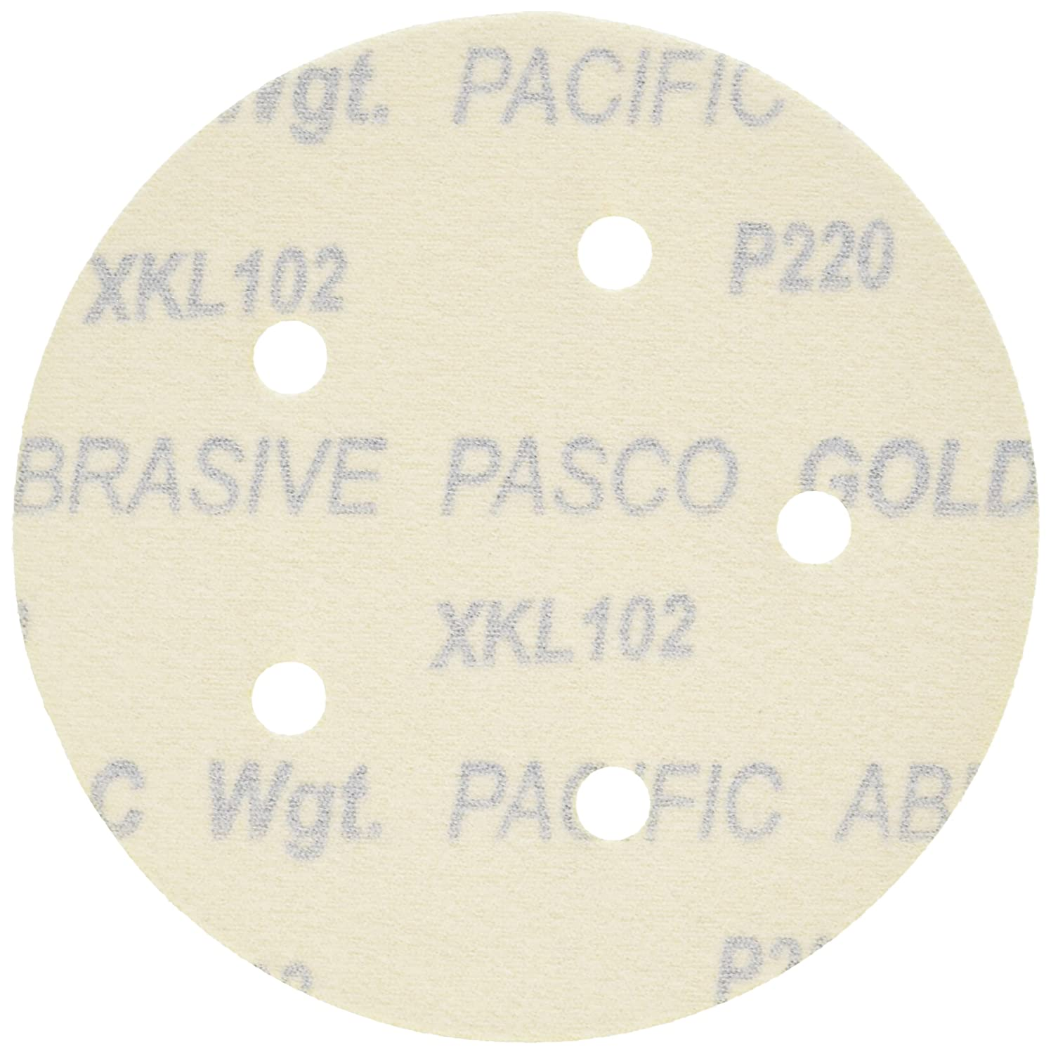 Grizzly G6412 5-Inch Sanding Disc A220-C Hand Length 5 Hole 5-Piece