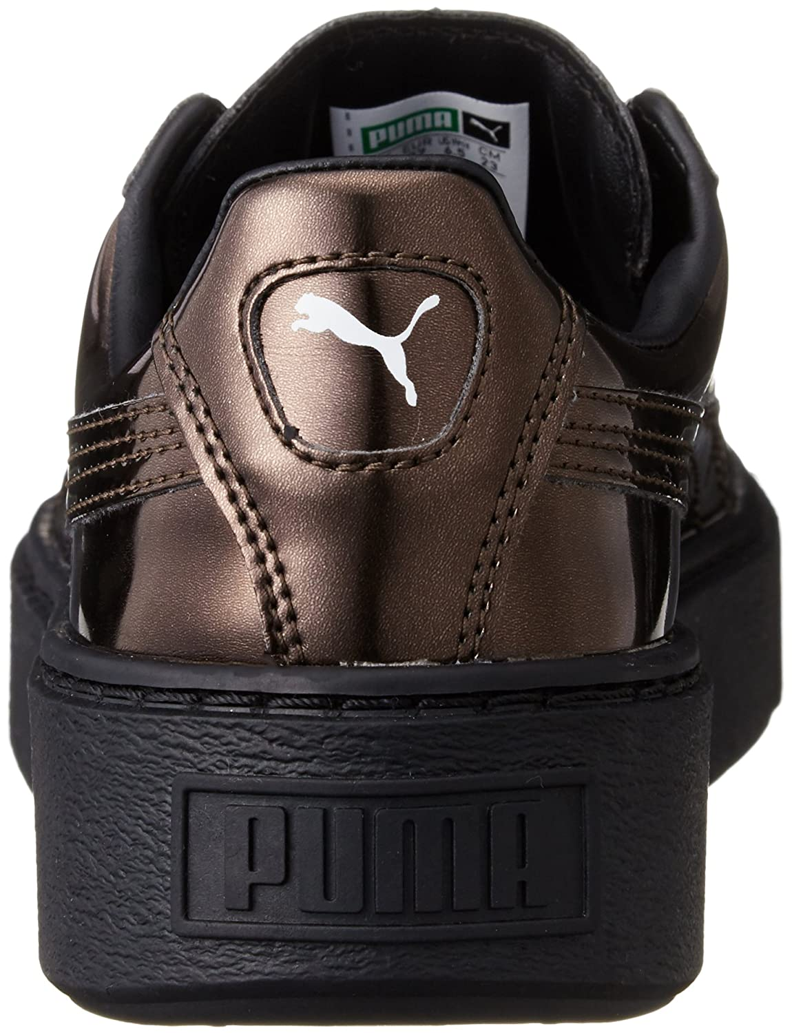 Amazon.com   Puma Basket Platform Metallic Womens Trainers   Fashion  Sneakers 66cfc29528