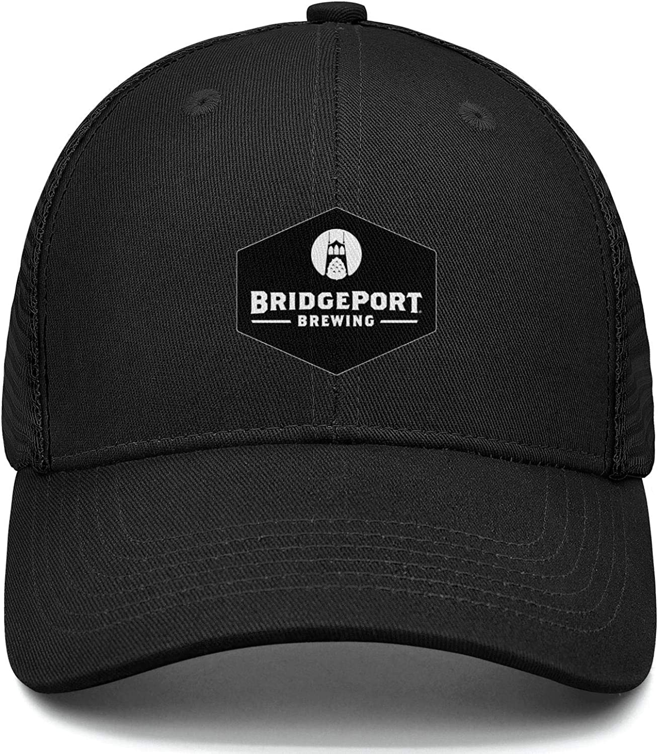 LZJDY Bridgeport Brewery Black Strap Women Mens Mesh Cool Cap Adjustable Snapback Sports Hat