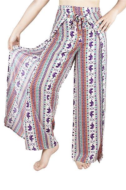 Lofbaz Mujer Plain Palazzo Pescador Rayón Pantalones de Envoltura -  Elephant 16 Naranja - OS  Amazon.es  Ropa y accesorios 0a439b53181b