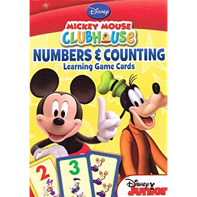 Mickey Mouse Numbers & Counting Learning Flash Cards: Toys & Games