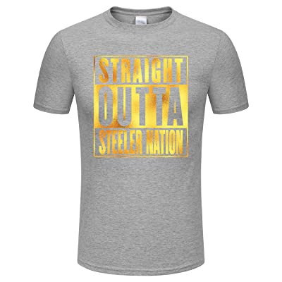 SPGBTees Gold Foil Men s Straight Outta Steeler Nation T-shirt Multicolor  can be Choose 0ec598f45