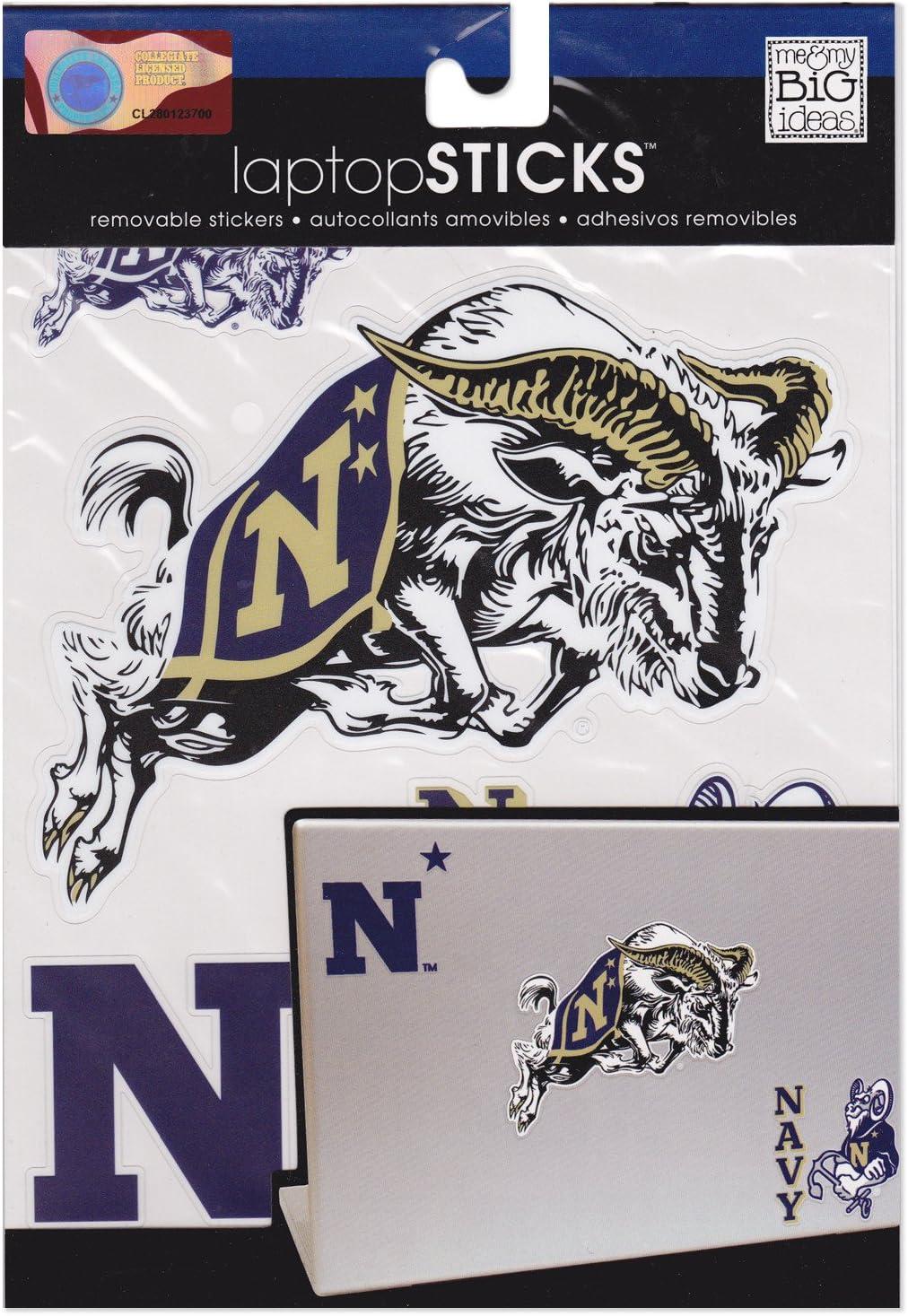 me & my BIG ideas laptopSTICKS Removable Laptop Stickers, United States Naval Academy (Navy) Midshipmen