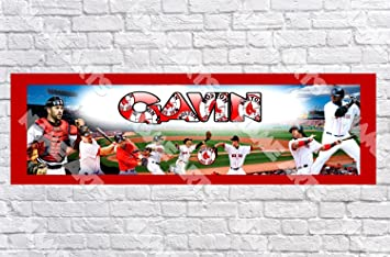 Personalized / Customized Boston Red Sox Name Poster with Border Mat- Home Wall Decor Birthday  sc 1 st  Amazon.com & Amazon.com: Personalized / Customized Boston Red Sox Name Poster ...