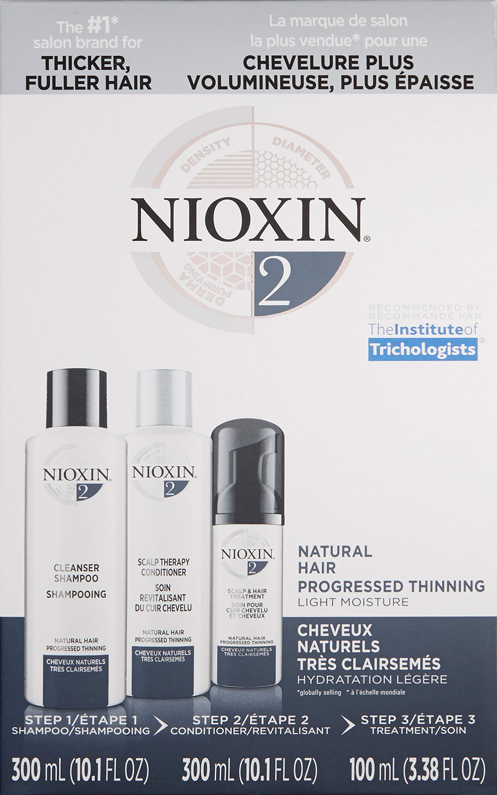 Nioxin System 2 Starter Kit Cleanser, Scalp Therapy & Scalp Treatment natural Hair Progressed Thinning 1 kit by Nioxin (Image #3)