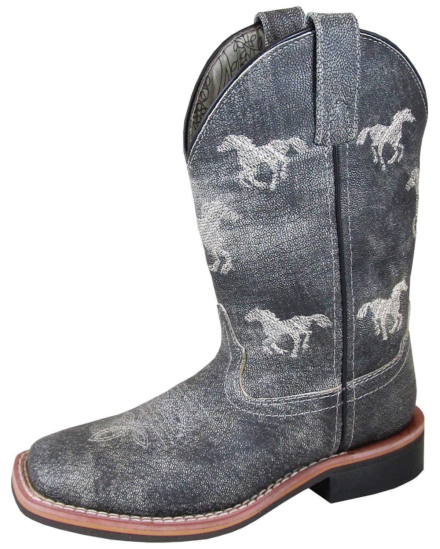 Smoky Mountain Boys' Rancher Western Boot Square Toe Grey 12 D