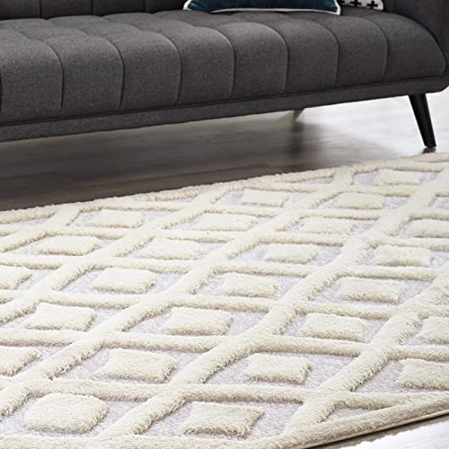 Modway Morsel Abstract Diamond Lattice 8x10 Chenille Blend Area Rug