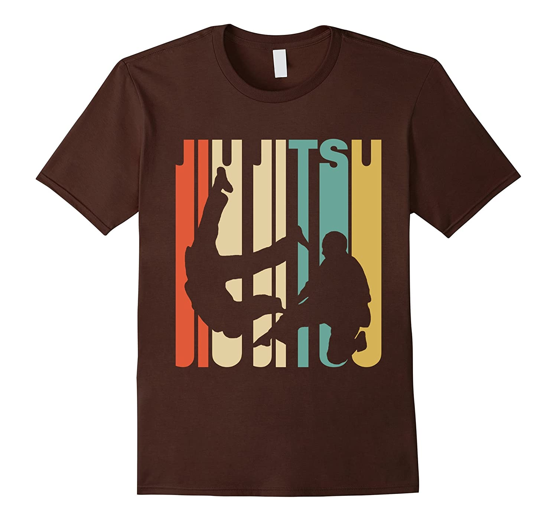Vintage Style Jiu Jitsu Silhouette T-Shirt-FL