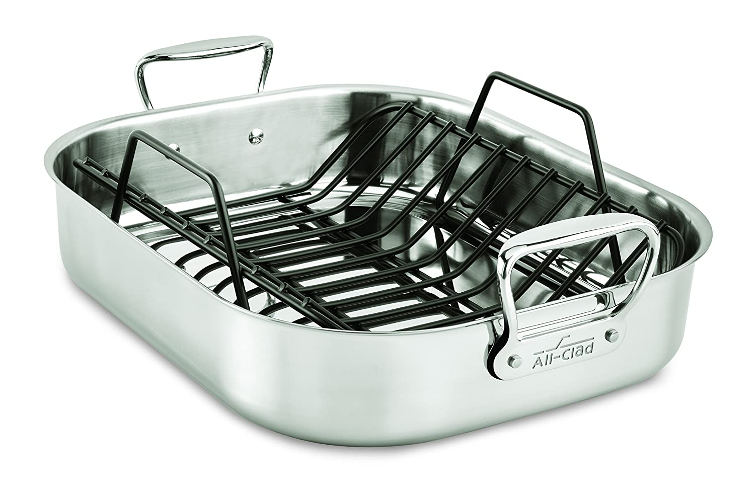 All-Clad 501631 Stainless Steel Large Roti Combo with Rack, Silver 2100095738