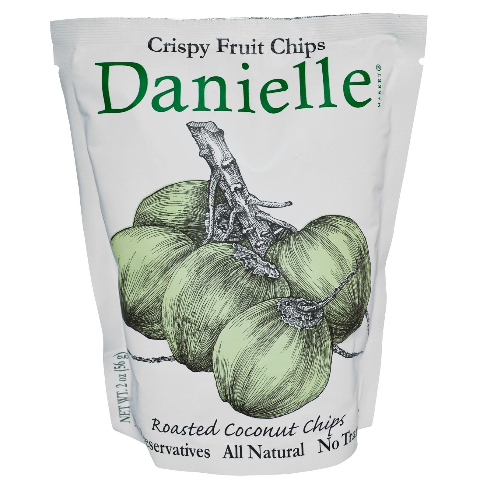 Danielle Roasted Coconut Crispy Fruit Chips - 6x2Oz