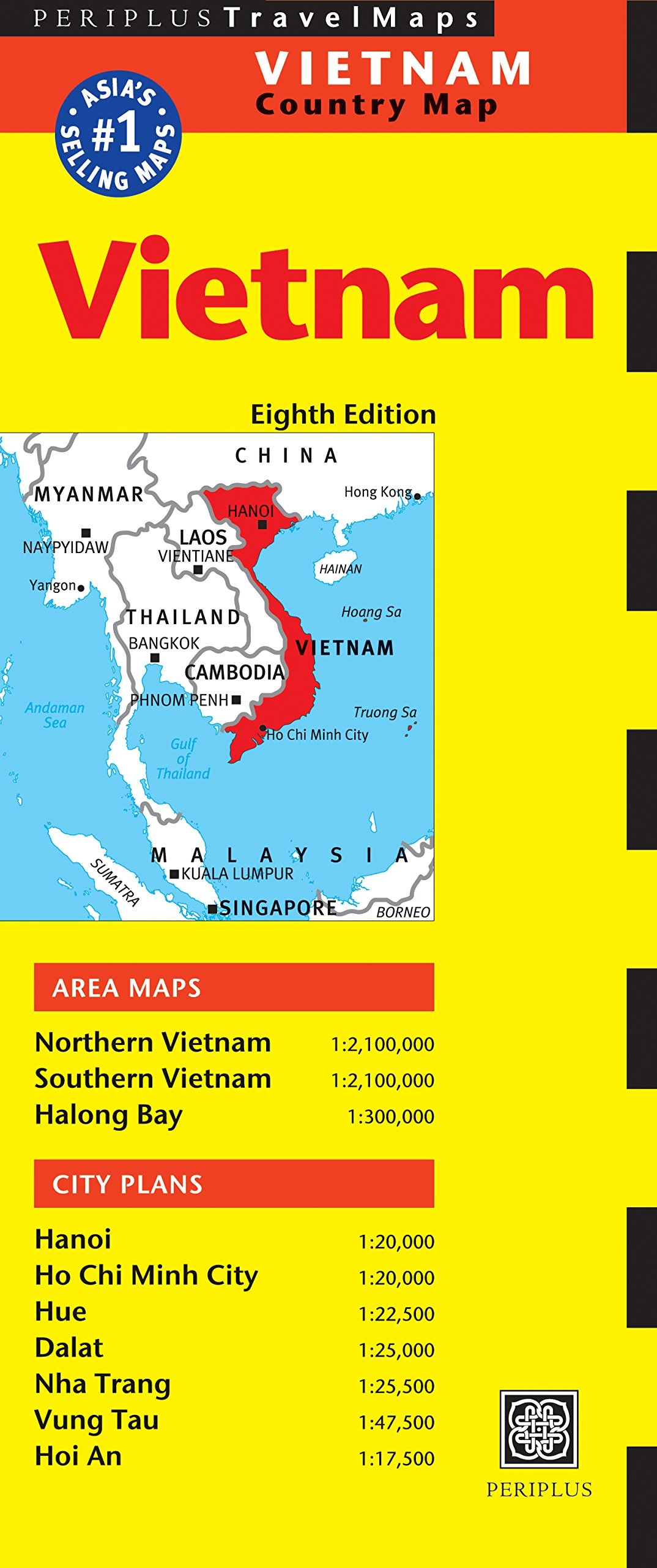 Vietnam Travel Map Eighth Edition (Periplus Travel Maps Country Map)