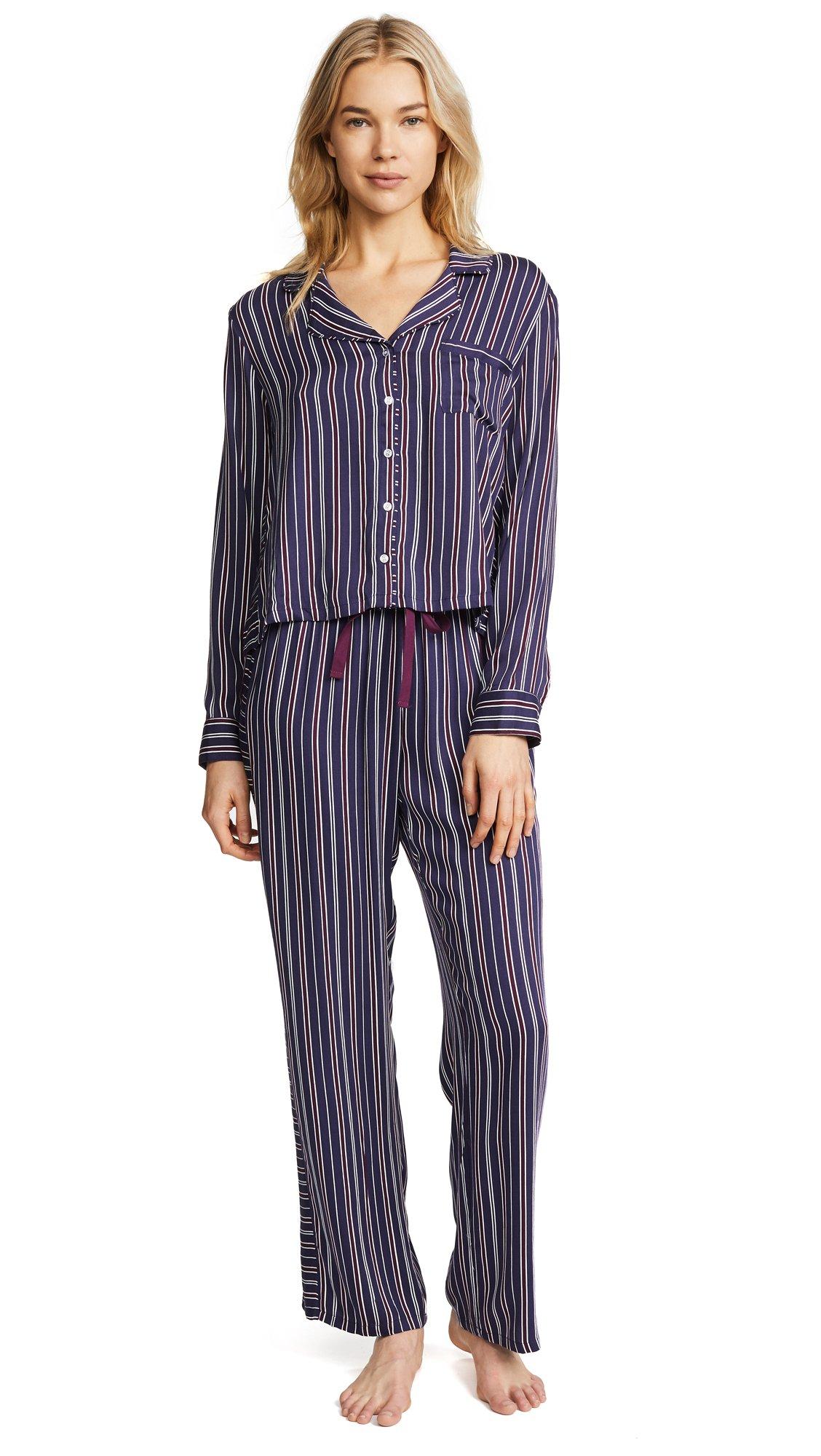 Splendid Women's Inviting Stripe PJ Set, Inviting Stripe, X-Small