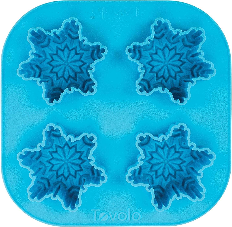 Tovolo Novelty Snowflake Ice Cube Mold Trays, Flexible Silicone, Dishwasher Safe