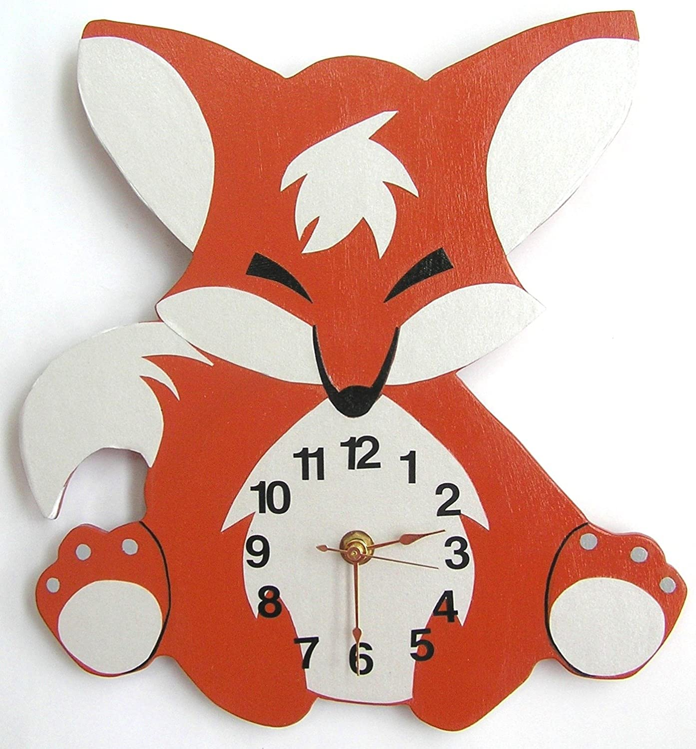 Amazon Nursery Wall Clock Nursery Fox Clock Hanging Fox
