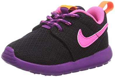 dqxwk Nike Roshe Run, Girls\' Low-Top Sneakers, Black, 12.5 UK: Amazon.co