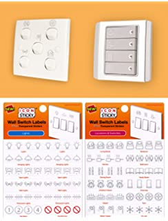 fuse box circuit breaker organiser labels 2 sheets amazon co uk metallic silver wall switch labels 2 pack