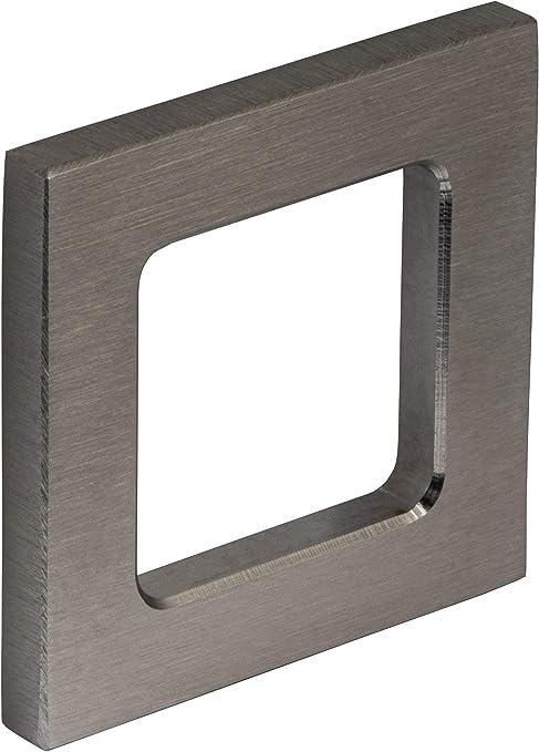 Gedotec Manija de Puerta de Vidrio Carcasa Tirador Acero Inoxidable Mate 1.4301 Entrada para Puertas de Cristal ANGULOSO 2 Tamaños para Pegar 50 x 50 x 6 mm: Amazon.es: Hogar