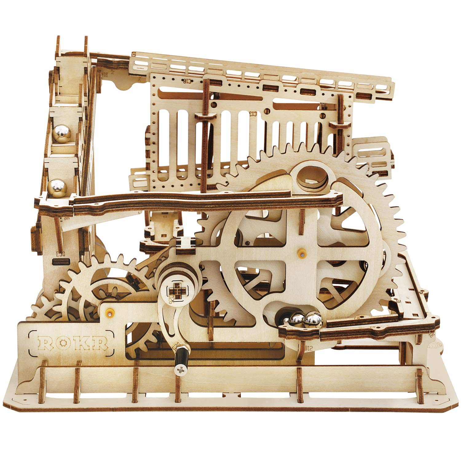ROKR 3D Wooden Puzzle Marble Run Model Building Kits Mechanical Puzzle Toy Gifts for Adults & Teens Marble Squad by ROKR