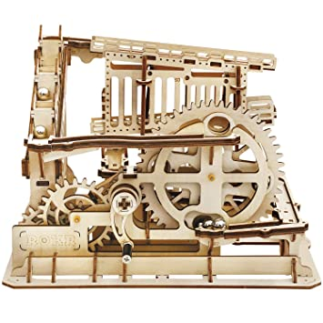 Rokr 3d Wooden Puzzle Marble Run Model Building Kits Mechanical Puzzle Toy Gifts For Adults Teens Marble Squad