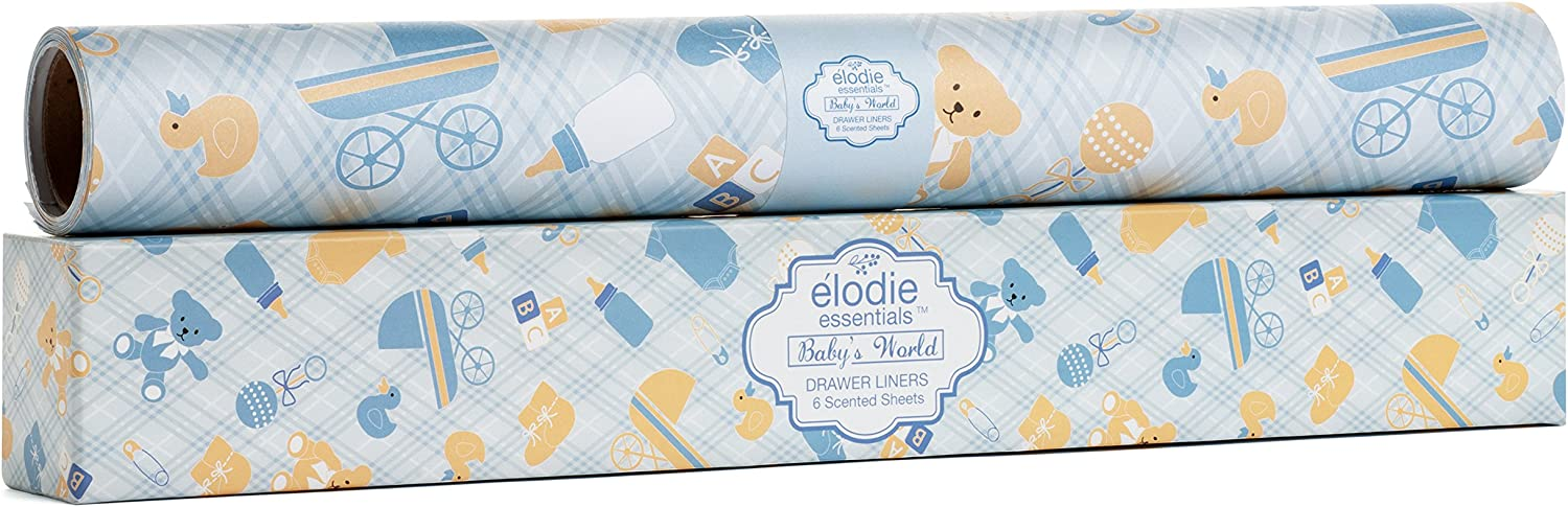 Elodie Essentials Scented Drawer Liner for Baby Boy Soft Lavender Fragrance (Blue)