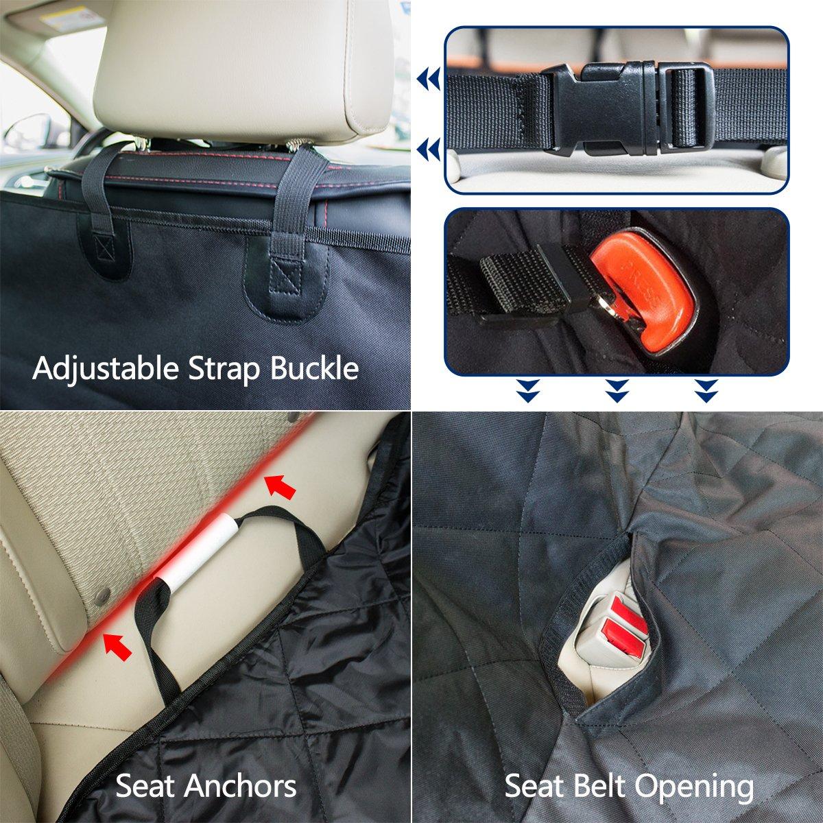 2er Auto Sicherheitsgurt morpilot Sitzbezug des Autos f/ür Haustier verschlei/ßfester Bezug des Hintersitzes f/ür Haustier Universal Wasserdicht Anti-Rutsch f/ür Haustier und Sitz Auto//SUV