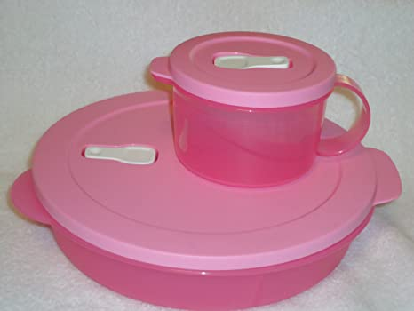 Amazon.com: Tupperware Crystalwave 2pc Pretty en color rosa ...