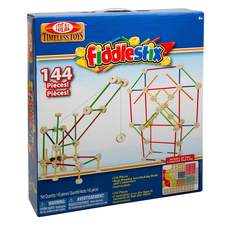 Ideal Fiddlestix 144 Piece Classic Wood Connector Set